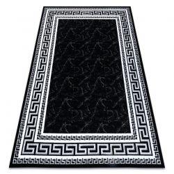 Modern GLOSS Carpet 2813 87 stylish, frame, greek black / grey