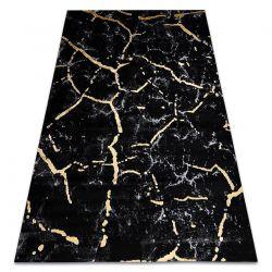 Tapete GLOSS moderno 410A 86 Mármore, pedra à moda, glamour preto / ouro