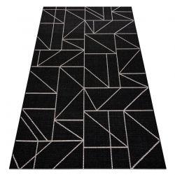 CARPET SIZAL FLOORLUX 20605 black / silver TRIANGLES, GEOMETRIC
