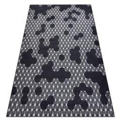 Carpet HEOS 78547 anthracite / cream HEXAGON, PUZZLE