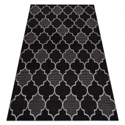 CARPET SIZAL FLOORLUX 20607 Moroccan trellis black / silver