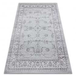 Moderní MEFE koberec 2312 Ornament, rám - Strukturální, dvě úrovně rouna šedá