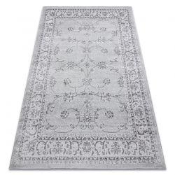 Tapete MEFE moderno 2312 Ornamento, quadro - Structural dois níveis de lã cinza cinzento