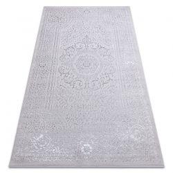Tapete MEFE moderno 8373 Ornamento, quadro - Structural dois níveis de lã cinza cinzento