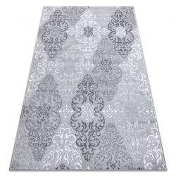 Tapete MEFE moderno 8734 Ornamento - Structural dois níveis de lã cinza cinzento