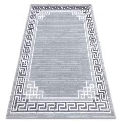 Tapete MEFE moderno 9096 Quadro, chave grega - Structural dois níveis de lã cinza cinzento