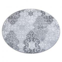 модерен MEFE килим 8734 кръг украшение - structural две нива на руно сив