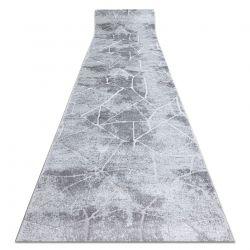 Tapis de coluoir Structural MEFE 2783 Marbre deux niveaux de molleton gris
