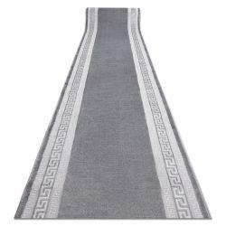 Runner Structural MEFE 2813 Frame, greek key - two levels of fleece grey