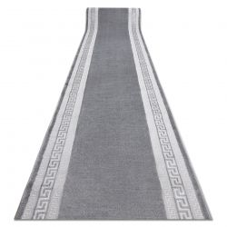 Tapis de coluoir Structural MEFE 2813 Cadre, clé grecque deux niveaux de molleton gris