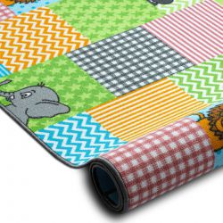 Fitted carpet for kids ZOO animals children's