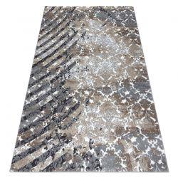 Koberec ZARA 0W6119 P50 610 - Strukturální, dvě úrovně rouna šedá / krémový