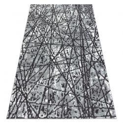 Dywan ZARA 0W7053 P50 140 - Strukturalny, dwa poziomy runa szary