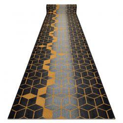 Runner anti-slip HEKSAGON Hexagon black / gold
