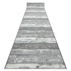 Alcatifa do corredor com reforço de borracha Madeira, borda cinzento
