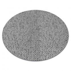 Teppich rund CASABLANCA grau