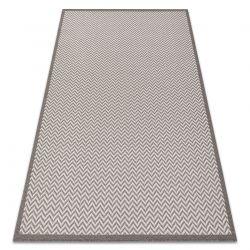 Fonott sizal szőnyeg BORDERO 2901 lapos szövött krém / taupe
