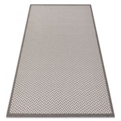 Tapete SIZAL BORDERO 2901 tecido plano creme / taupe