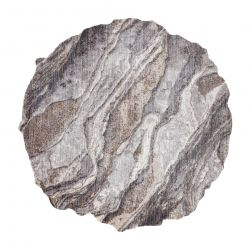 Tapis TINE 75313C Roche, calcul - moderne, forme irrégulière gris foncé / gris clair