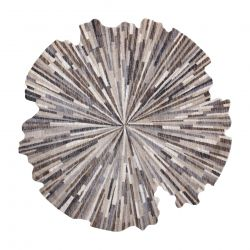 Carpet TINE 75317B Abstraction - modern, irregular shape dark grey / light grey