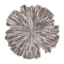 Moderní koberec TINE 75317B Abstrakce, neprvidelný tvar, tmavo šedá, světle šedá