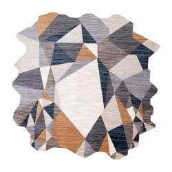 Tapis TINE 75419B mosaïque - moderne, forme irrégulière gris / jaune