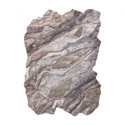 TINE Szőnyeg 75313B Szikla, kő - modern, rendhagyó forma - sötétszürke / világos szürke