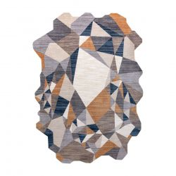 Dywan TINE 75419A Mozaika - nowoczesny, nieregularny kształt szary / żółty
