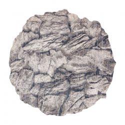 Moderní koberec TINE 75417B, nepravidelný tvar, Skála kámen krémový / šedá