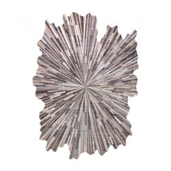 Carpet TINE 75317A Abstraction - modern, irregular shape dark grey / light grey