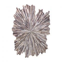 Moderní koberec TINE 75317A Abstrakce, nepravidelný tvar, tmavo šedá, světle šedá