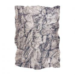 Moderní koberec TINE 75417A, nepravidelný tvar, Skála kámen krémový / šedá