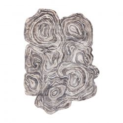 Carpet TINE 75426A Tree wood - modern, irregular shape cream / grey