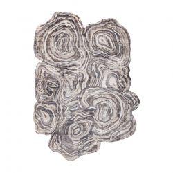 Moderní koberec TINE 75426A Pařez stromu, nepravidelný tvar, krémovo šedý
