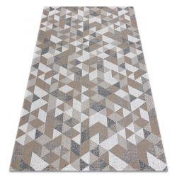 Dywan CASA Ekologiczny, EKO SIZAL Boho Trójkąty 2816 krem / taupe, z bawełny recyklingowanej