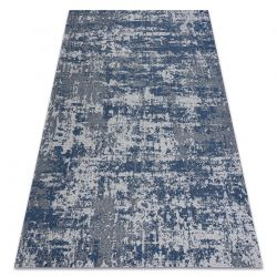 Tapis CASA ECO SIZAL BOHO vintage 2809 gris / bleu foncé, tapis en coton recyclé