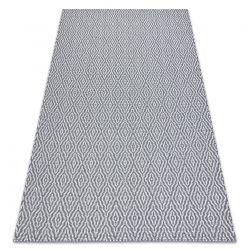 Tapis CASA ECO SIZAL BOHO Diamants 22084 anthracite / crème, tapis en coton recyclé