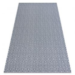 Tapis CASA ECO SIZAL BOHO Diamants 22084 bleu foncé / crème, tapis en coton recyclé
