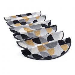 Tapetes de escada adesivos NEW DECO cinzento
