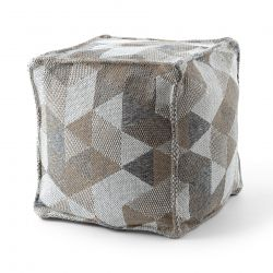Pouffe Négyzetes 50 x 50 x 50 cm Boho 2816 lábtartó, krém / taupe ülésre