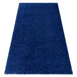 Tapis SOFFI shaggy 5cm bleu foncé