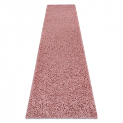 Carpet, Runner SOFFI shaggy 5cm blush pink - for the kitchen, corridor & hallway