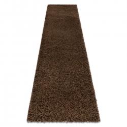 Carpet, Runner SOFFI shaggy 5cm brown - for the kitchen, corridor & hallway