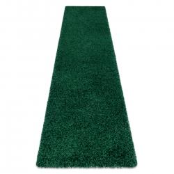 Carpet, Runner SOFFI shaggy 5cm bottle green - for the kitchen, corridor & hallway