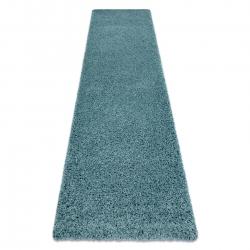 Carpet, Runner SOFFI shaggy 5cm blue - for the kitchen, corridor & hallway