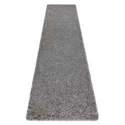Carpet, Runner SOFFI shaggy 5cm grey - for the kitchen, corridor & hallway