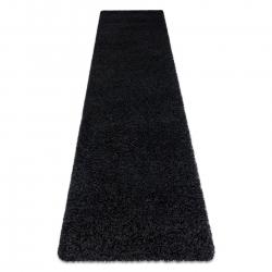 Carpet, Runner SOFFI shaggy 5cm black - for the kitchen, corridor & hallway