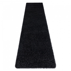 Tapete, Passadeira SOFFI shaggy 5cm preto - para cozinha, ante-sala, corredor