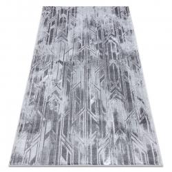 Modern MEFE carpet B402 - structural two levels of fleece dark grey