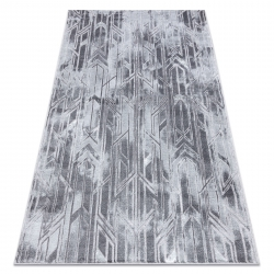 Moderní MEFE koberec B402 - Strukturální, dvě úrovně rouna tmavo-šedý